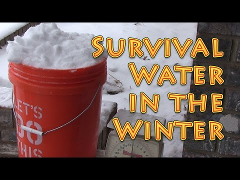 Survival Water In Winter