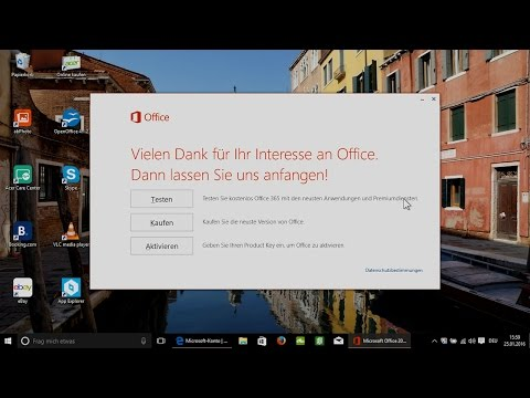 Windows 10 - MS Office 365 / Open Office 4 / VLC Player