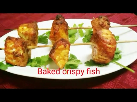 Easy Baked fish(without oil)!! Crispy Baked fish fillets!!
