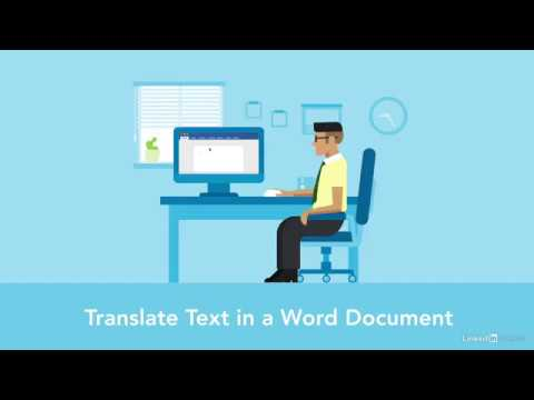Word Quick Tips - Translate text in a Word document