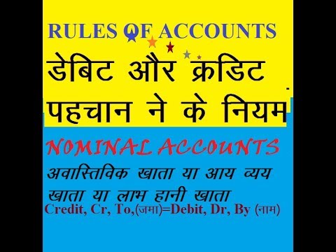 RULES OF ACCOUNTS NOMINAL ACCOUNTS TUTORIAL FOR ALL CLASS IN ACCOUNTING
