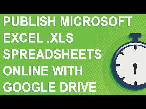 Publish Microsoft Excel .xls spreadsheets online with Google Drive