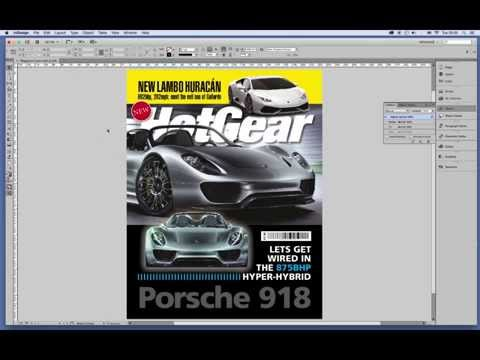 Indesign Tutorial - How to design a magazine cover