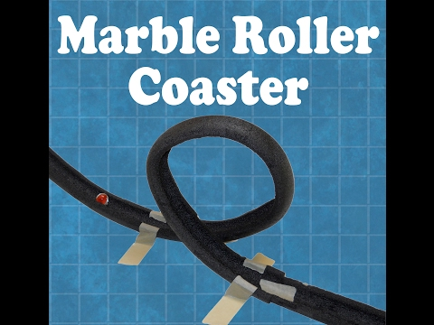 Marble Roller Coasters built by kids