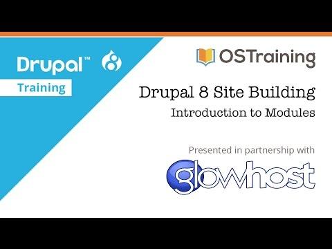Drupal 8 Site Building, Lesson 20: Introduction to Modules
