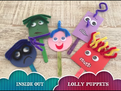 INSIDE OUT Lolly Stick Puppets - Anger