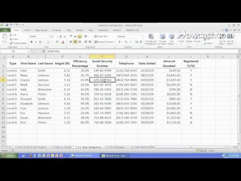 How to Navigate Cells, Rows & Columns | Microsoft Excel