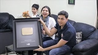 Youtube Gold Play Button has Arrived | 1M Subscribers | KabitasKitchen