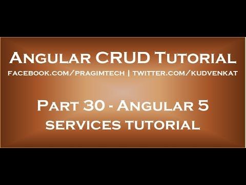 Angular 5 services tutorial