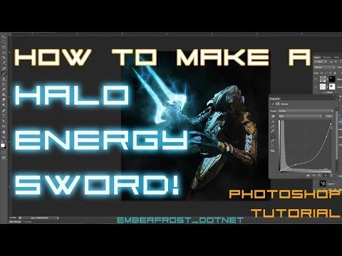 Halo Energy Sword - Photoshop Tutorial