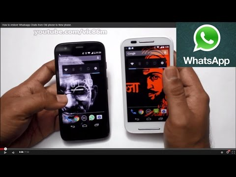 WhatsApp TRICKS - RESTORE CHATS from Old phone to New phone.