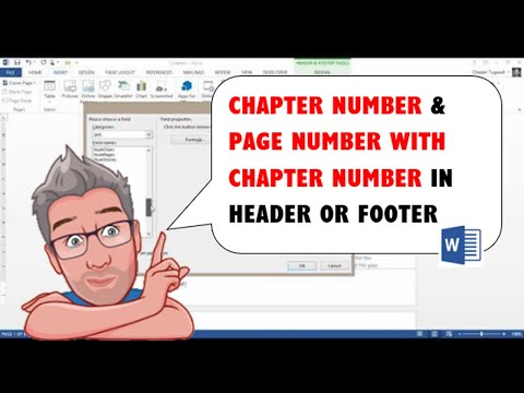 MS Word Chapter Numbering plus Page Number with Chapter Number in Header or Footer