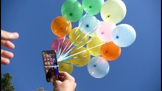 How Many Balloons Will Lift an iPhone XS? - Will it Survive?