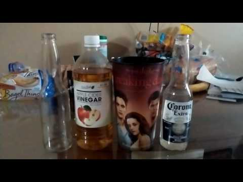 Removing screen print from Corona bottle