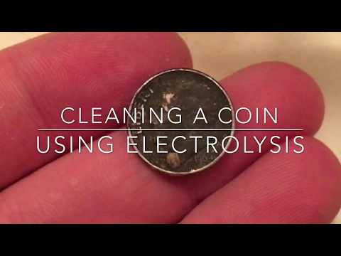 How to clean a coin using electrolysis