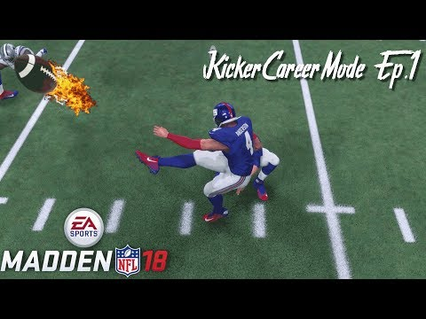Madden 18 Kicker Career Mode Ep.1 We Need Your Support!!!