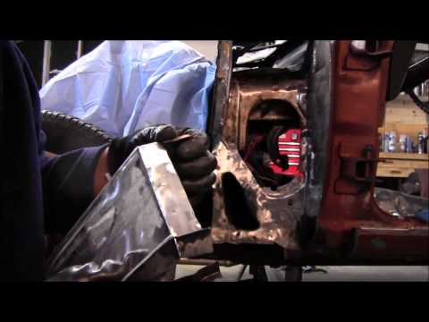 rust repair, inner cowel sheet metal 1974 chevy nova