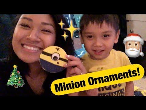 DIY Minion Ornaments ft My Baby!   awkwardflowers_
