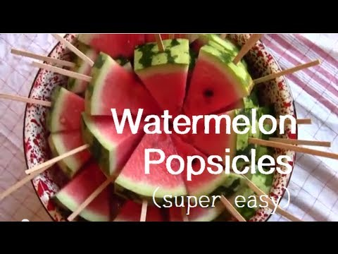 Watermelon Popsicles (EASY)