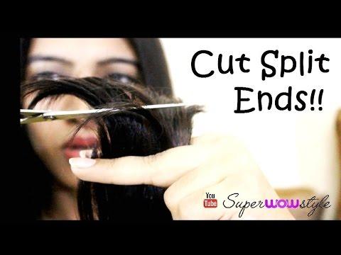Haircut at Home: Split Ends Cut + Remedies | SuperWowStyle Hair Cutting Videos