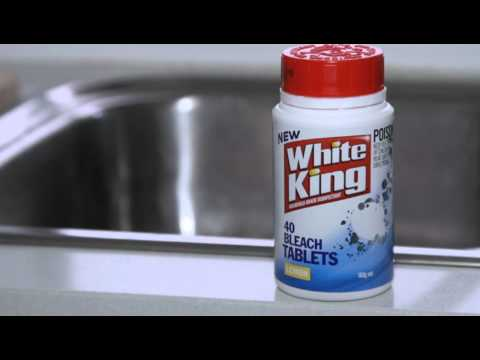 HOW TO CLEAN YOUR SINK - WHITE KING BLEACH TABLETS