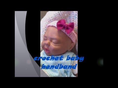 Super Easy Crochet Baby headband for beginners