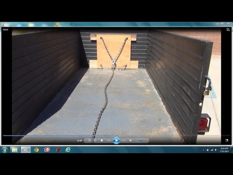 Unloading a utility trailer with ease