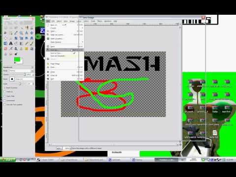 how to create a transparent spray for css (using GIMP 2.6)