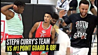 Steph Curry GETS HYPE! Steph Curry's Team vs #1 QB/Point Guard In The Nation In Friendly BATTLE!