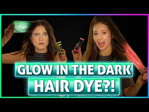 GLOW IN THE DARK HAIR?! Try It Out
