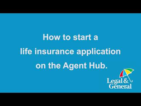 How to start a life insurance application on the Agent Hub