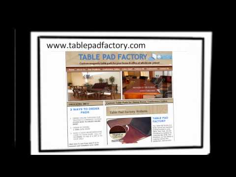 Table Pads | Custom Table Pads | Protective Table Pads