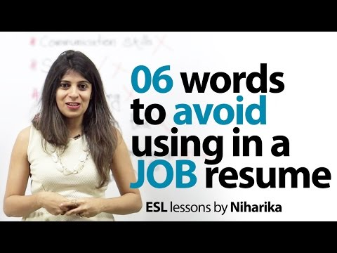 06 Words to avoid in a Resume – Job Interview Skills (English Lesson)