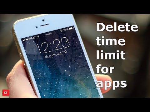 Delete screen time limit for an app in iPhone