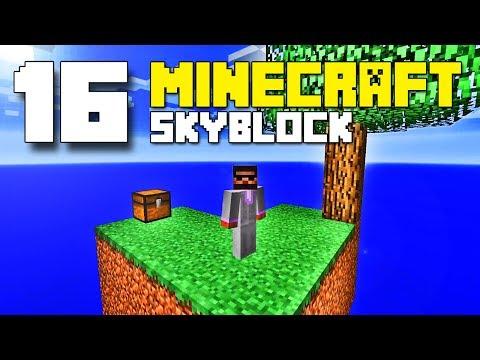 PG | Minecraft Skyblock E16 - Redstone cobblestone generator
