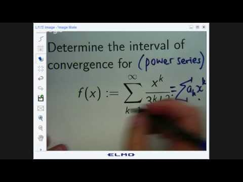 Power series: How to find the interval of convergence