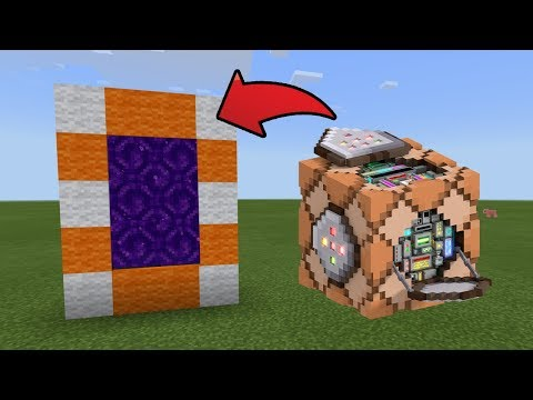 How To Make a Portal to the Command Block Boss Dimension in MCPE (Minecraft PE)