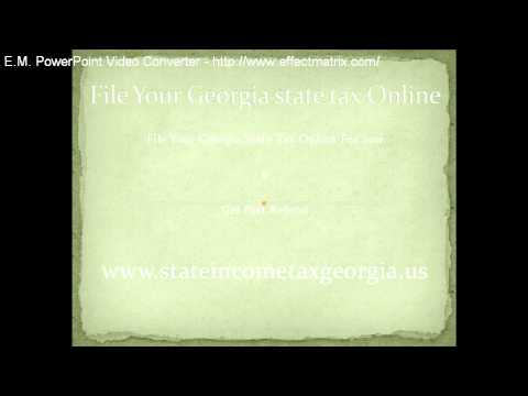 Georgia state tax filing online 2010, E File your Taxes Online