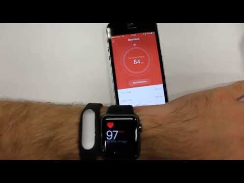 Comparing Apple Watch  and Xiaomi Mi Band Pulse Heart Rate Monitor