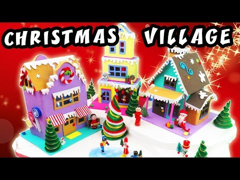 HOW TO MAKE A CHRISTMAS VILLAGE from Cardboard and Foam | aPasos Crafts DIY