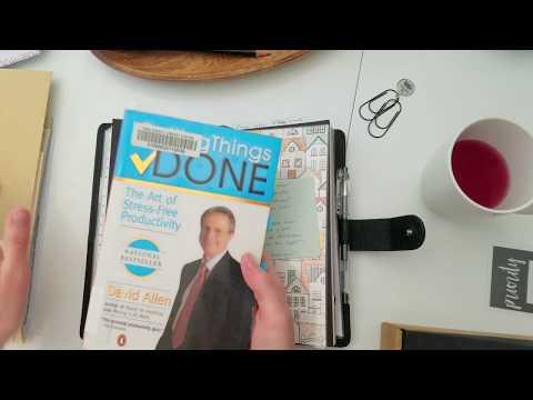 Getting Things Done in a Travelers Notebook - Van der Spek Nomad