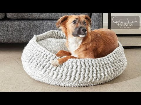 How to Crochet A Pet Bed: S - XL Sizes