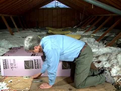 Insulating attic pull-down stairs