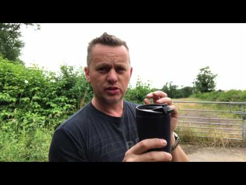 Starbucks Thermos Coffee Travel Mug / cup, Review does it work My Coffee Journey episode 20