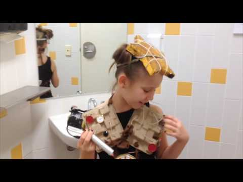 9 Year Old Creates LittleBits Electronic Building Blocks Steampunk Costume