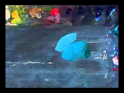 How to Mix Neon Blue / Sky Blue : Painting-Course.Com