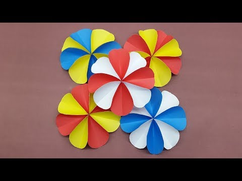 How to make a paper flowers using colors paper | DIY Paper Flower easy tutorial