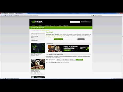 How to update Nvidia graphics card drivers on windows 7, Xp, Vista [HD]