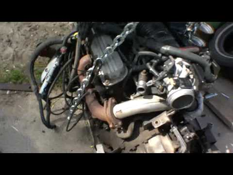 Engine and transmission on cradle: 3800 conversion 1985 fiero SE