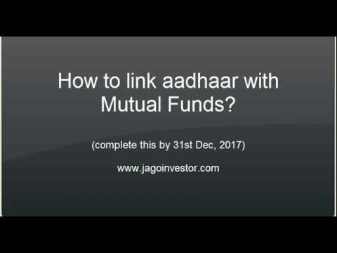 How to Link aadhaar with mutual funds folios ? (for CAMS)